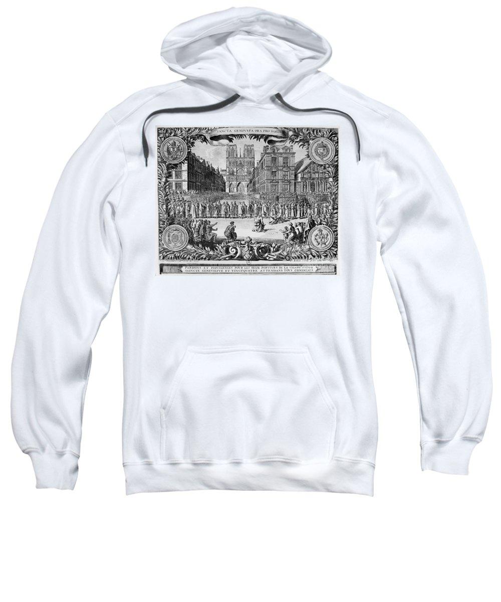 1694 Sweatshirt featuring the photograph Paris: Catholic Procession by Granger
