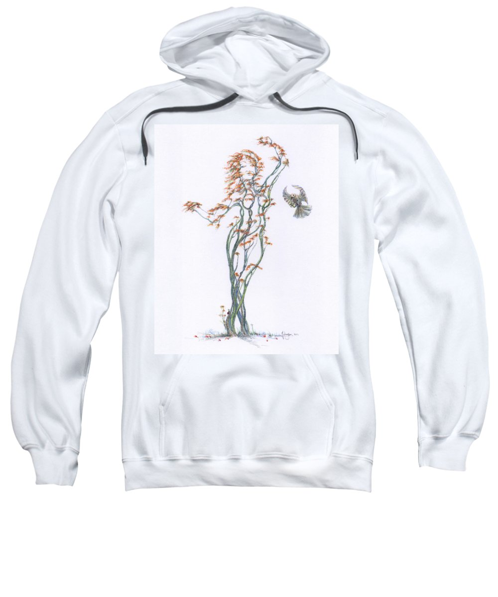 Mark Johnson Toronto Artist Drawings Sweatshirt featuring the drawing Partners In The Dance Re-imagined by Mark Johnson