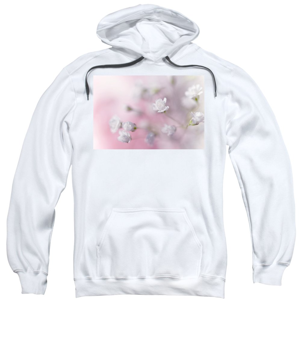 Jenny Rainbow Fine Art Photography Sweatshirt featuring the photograph Passion For Flowers. White Pearls by Jenny Rainbow