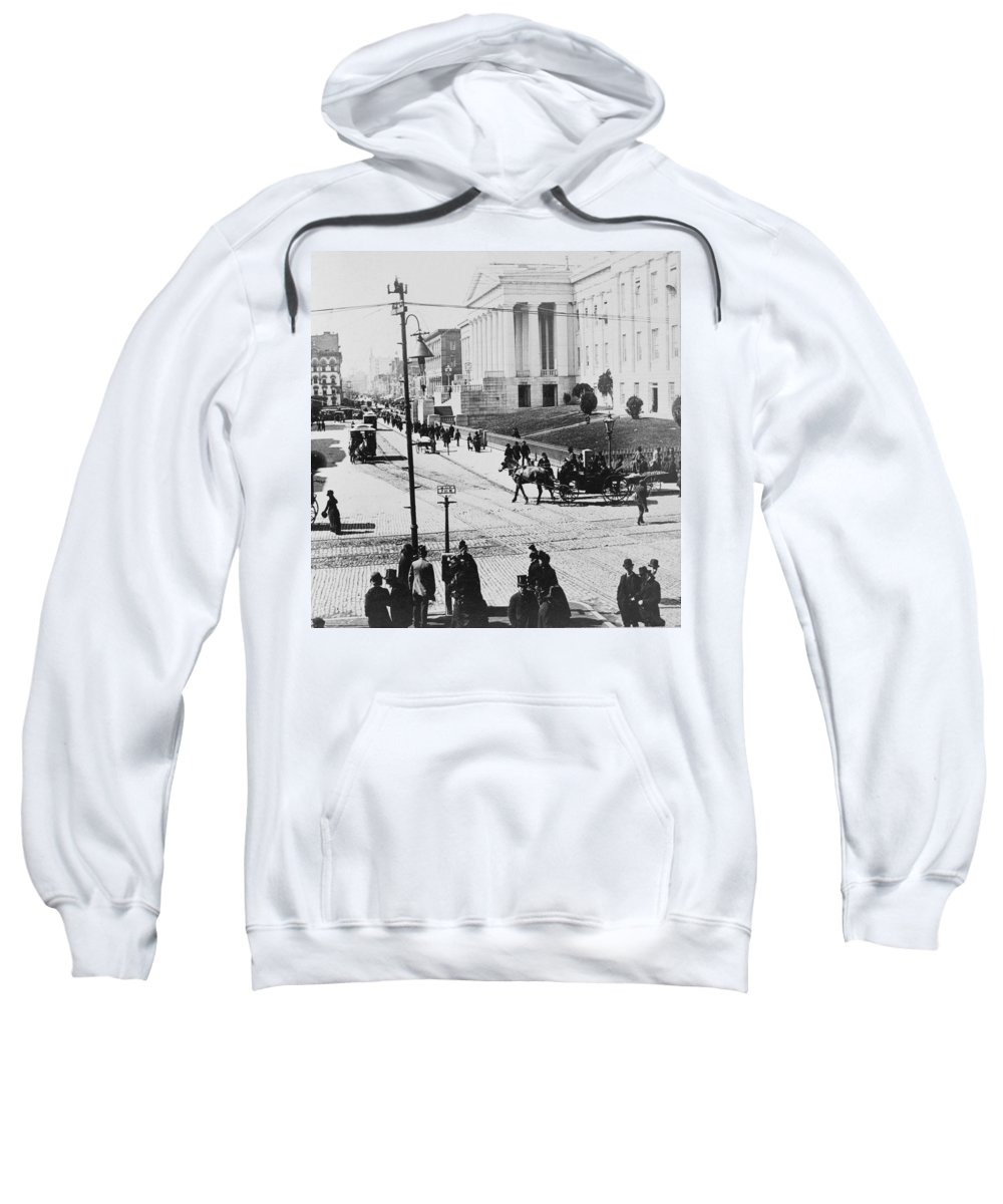 washington Dc Sweatshirt featuring the photograph Patent Office During Presidential Inauguration - Washington Dc - C 1889 by International Images