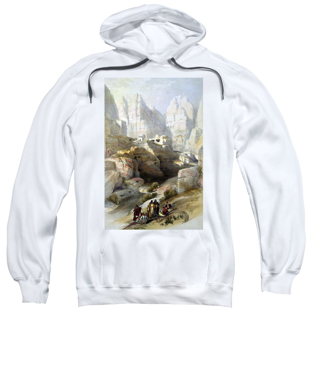 Petra Sweatshirt featuring the photograph Petra March 10th 1839 by Munir Alawi