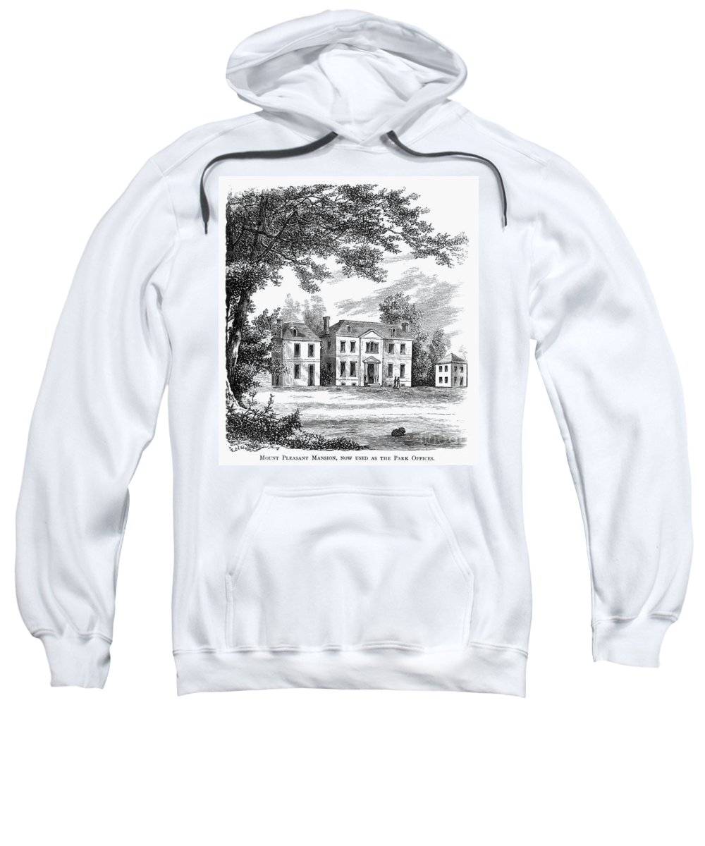 1761 Sweatshirt featuring the photograph Philadelphia: Mansion by Granger