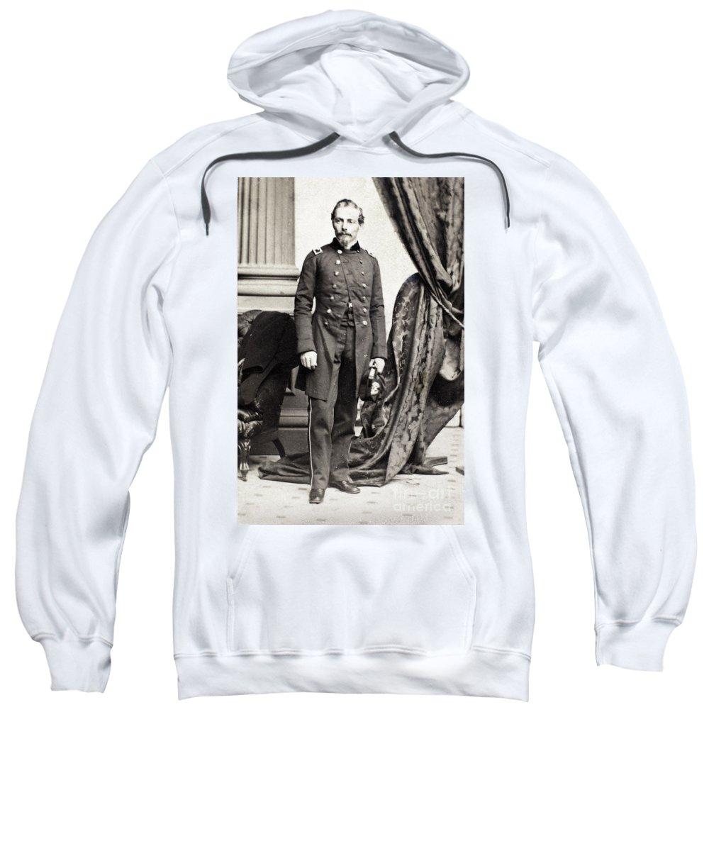 1860 Sweatshirt featuring the photograph Pierre G.t. De Beauregard by Granger