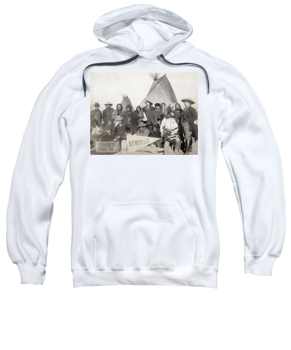 1891 Sweatshirt featuring the photograph Pine Ridge Reservation by Granger