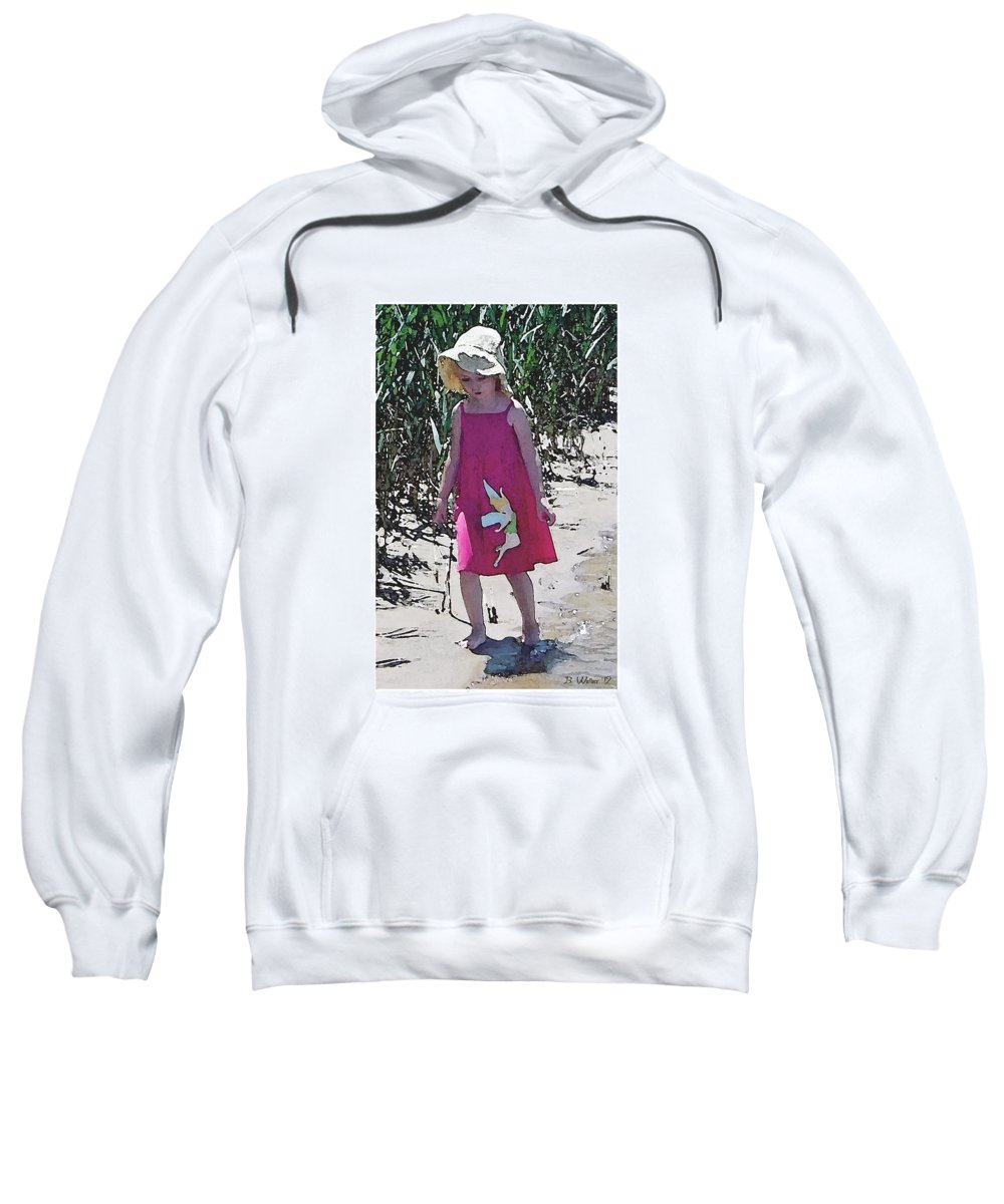 2d Sweatshirt featuring the photograph Pink Dress by Brian Wallace