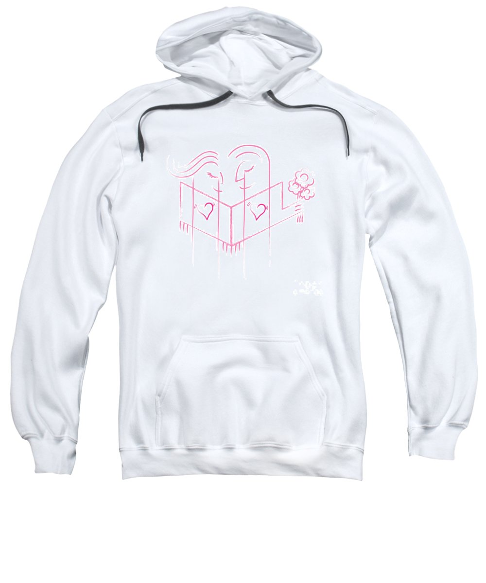 Art Sweatshirt featuring the digital art Pink Love by Adem Demir