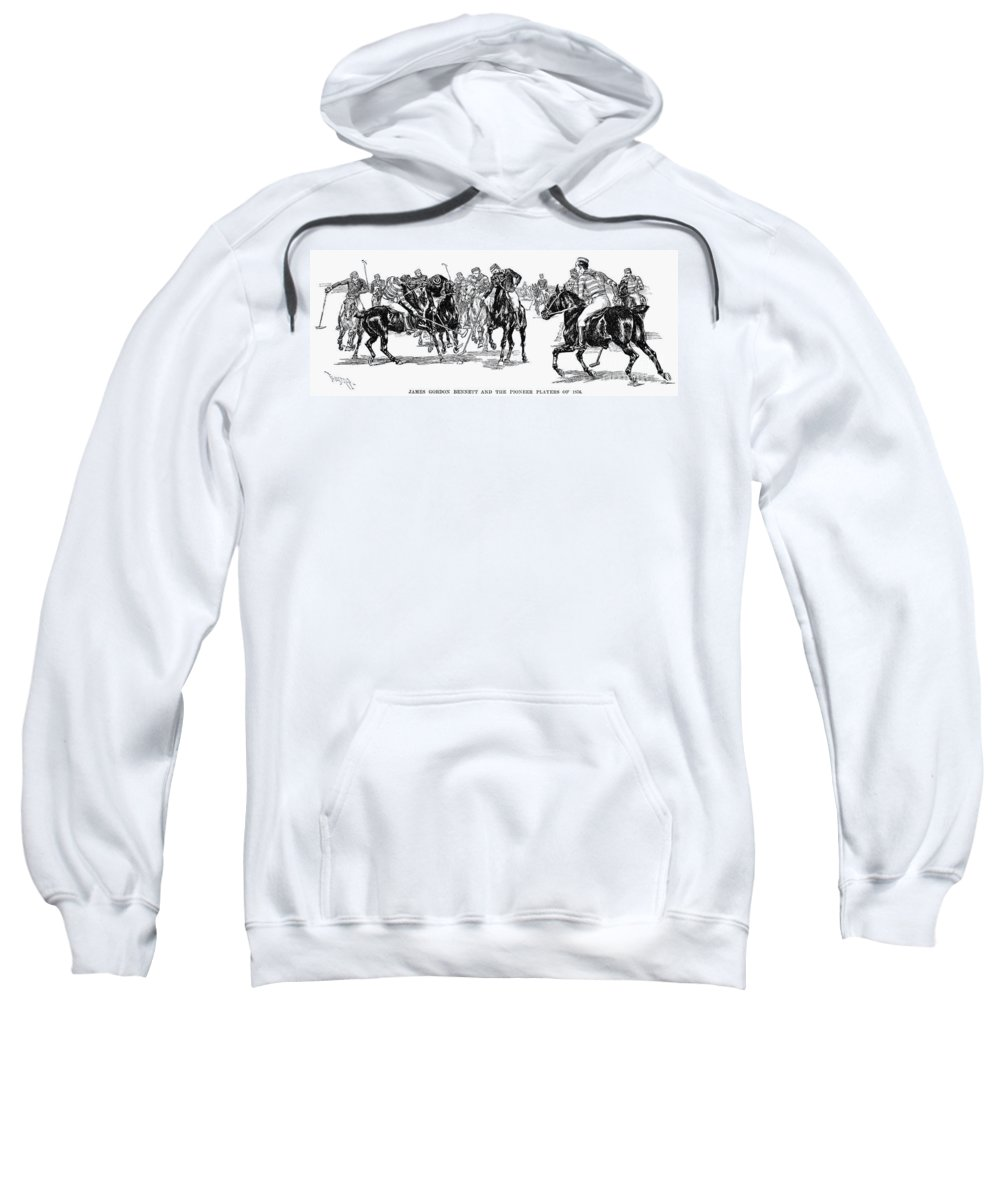 1876 Sweatshirt featuring the photograph Polo, 1876 by Granger