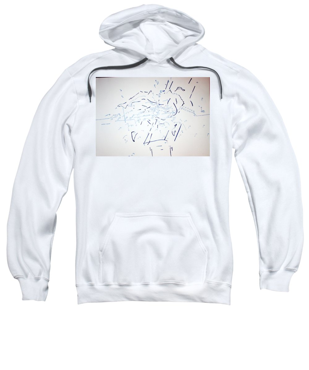 Jesus Sweatshirt featuring the painting Pommel Horse Gymnastics by Gloria Ssali
