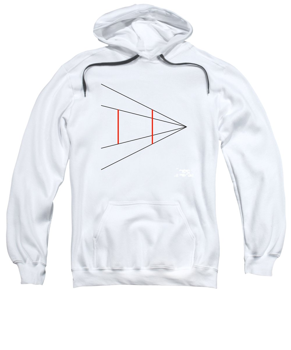 Ambiguity Sweatshirt featuring the photograph Ponzo Illusion by SPL and Photo Researchers