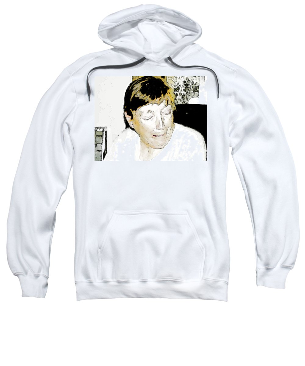 Expressive Sweatshirt featuring the photograph Portrait Of Tears 2 by Lenore Senior