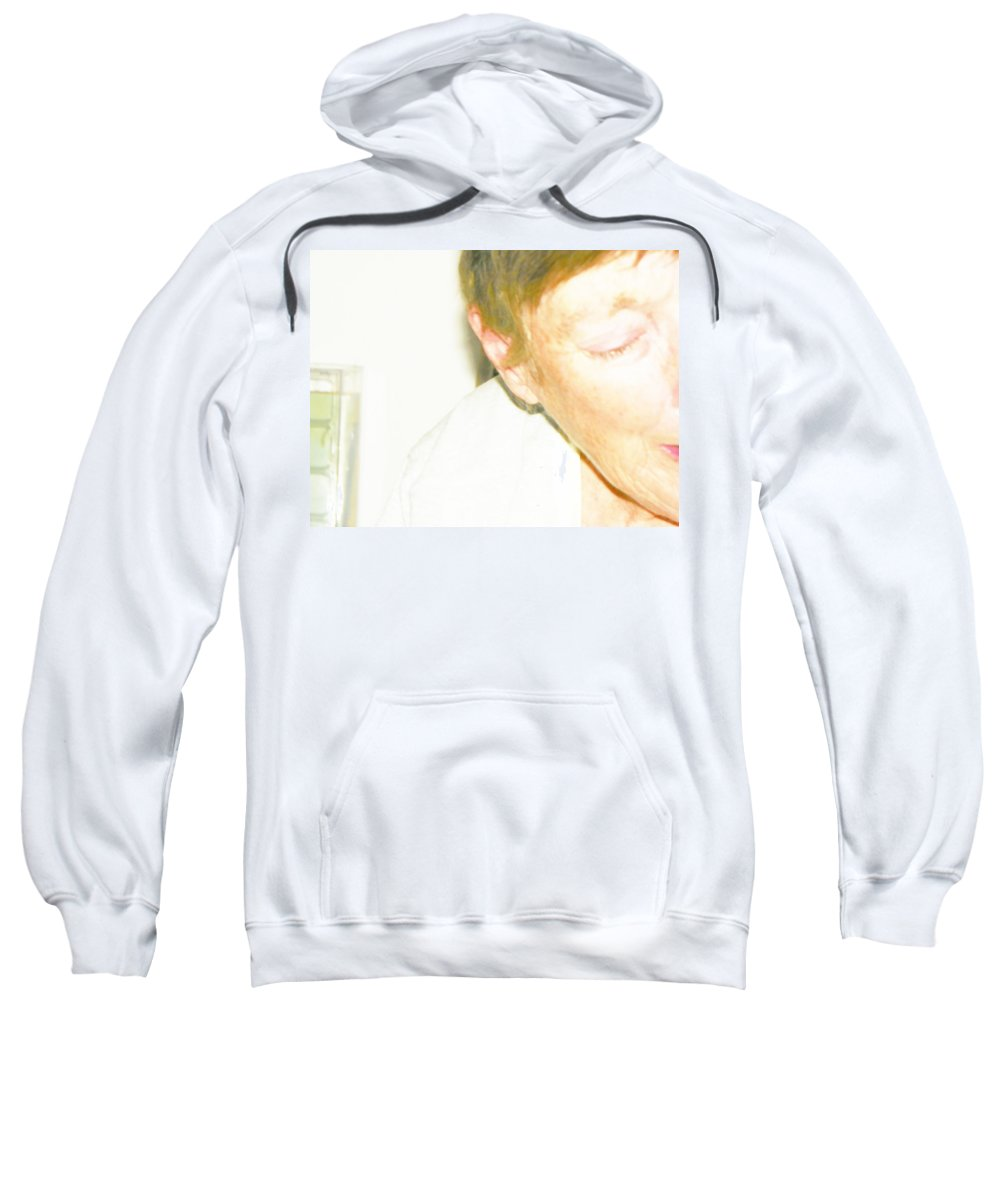 Expressive Sweatshirt featuring the photograph Portrait Of Tears 3 by Lenore Senior