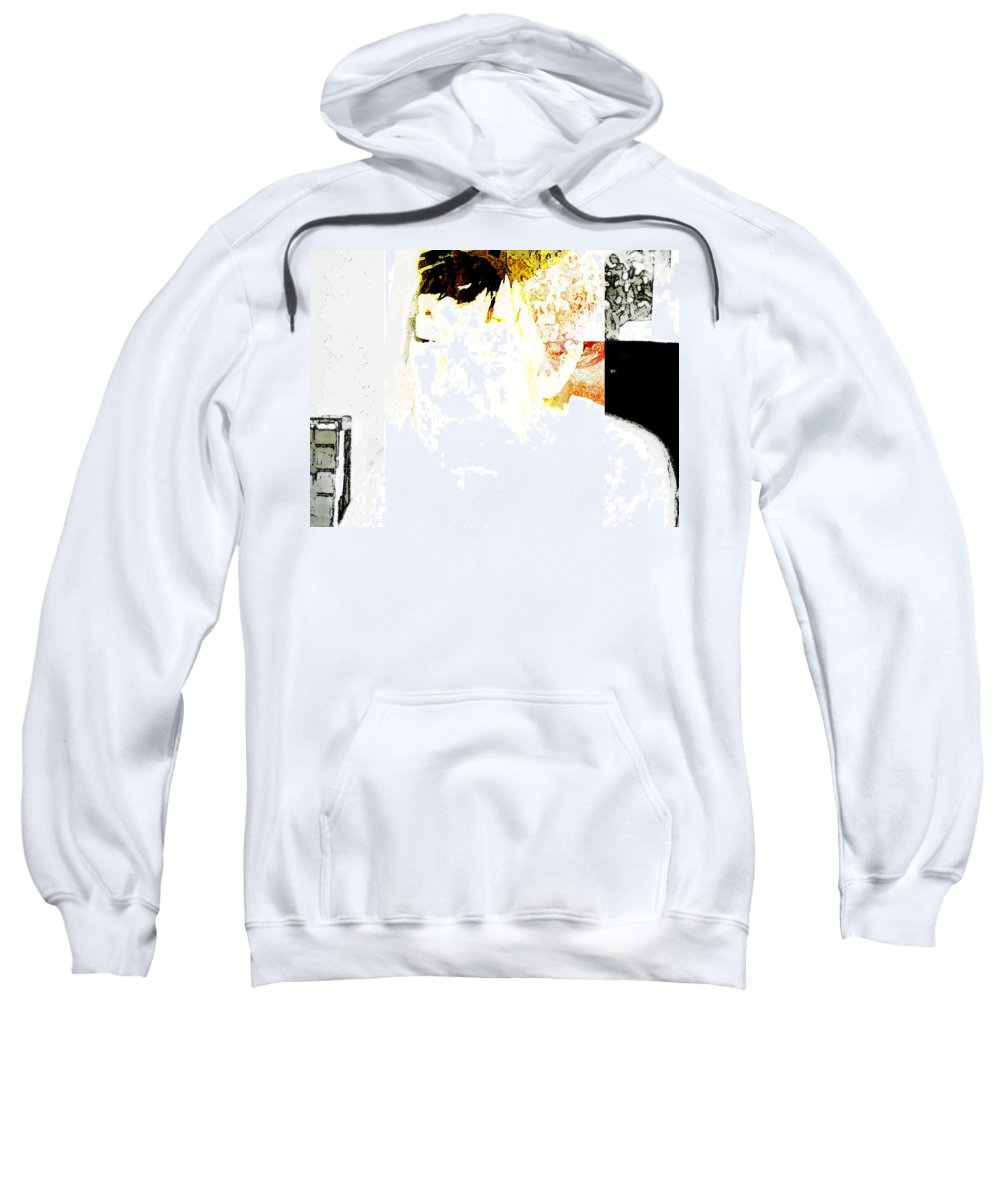 Abstract Sweatshirt featuring the photograph Portrait Of Tears 4 by Lenore Senior