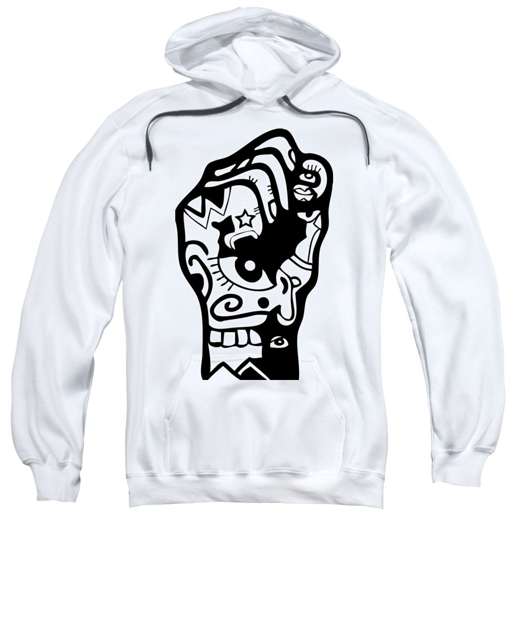 Fist Sweatshirt featuring the digital art Power by Kamoni Khem