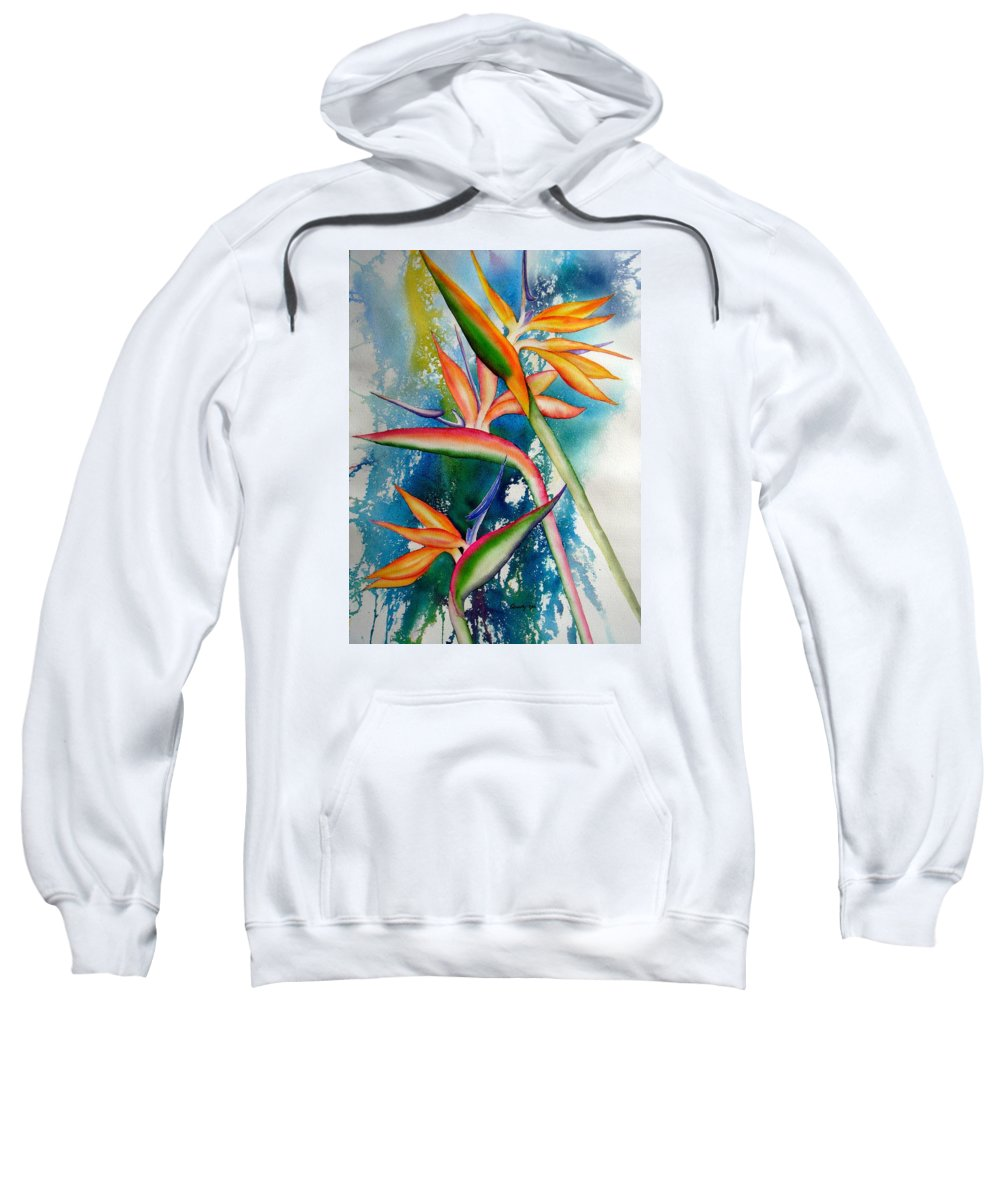 Nature Sweatshirt featuring the painting Proud by Candy Yu