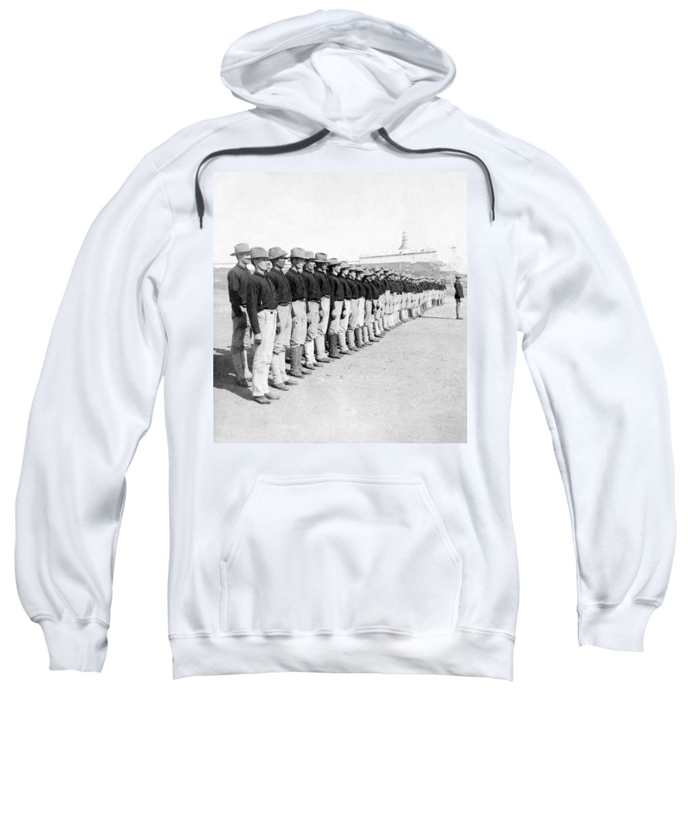 colonial Army Sweatshirt featuring the photograph Puerto Ricans Serving In The American Colonial Army - C 1899 by International Images