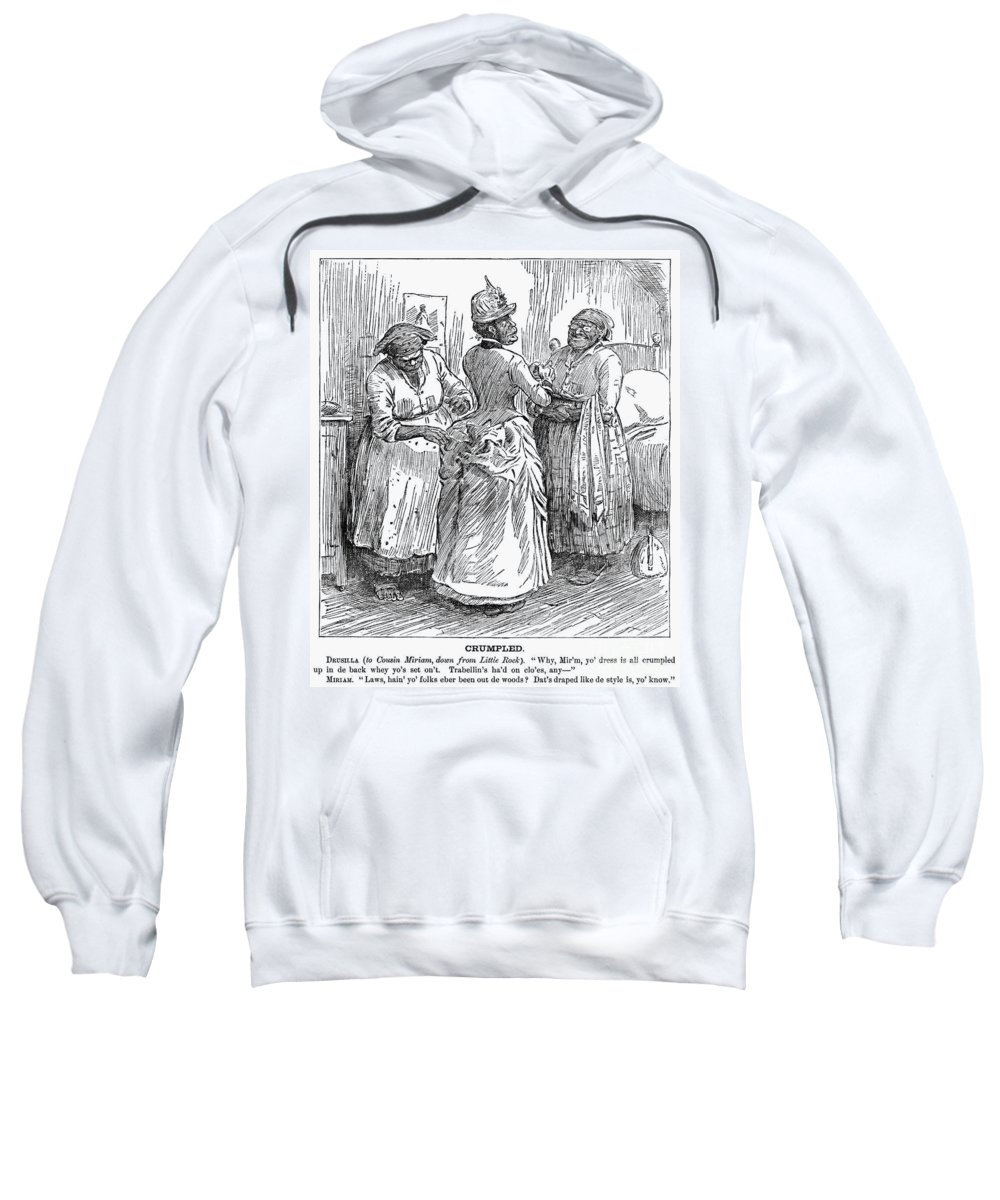 1886 Sweatshirt featuring the photograph Racial Caricature, 1886 by Granger