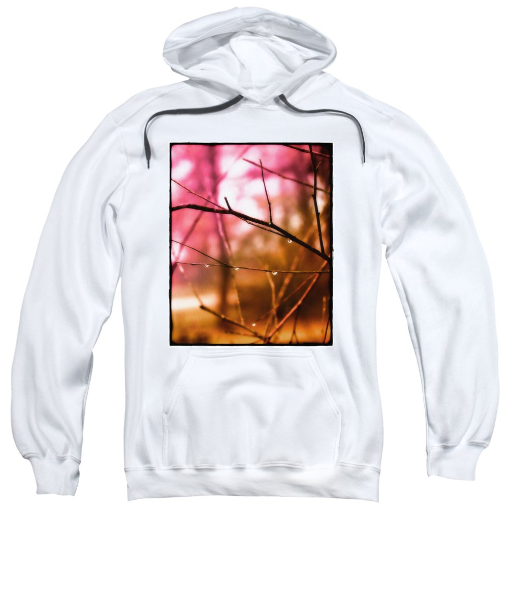 Raindrops Sweatshirt featuring the photograph Raindrops by Judi Bagwell
