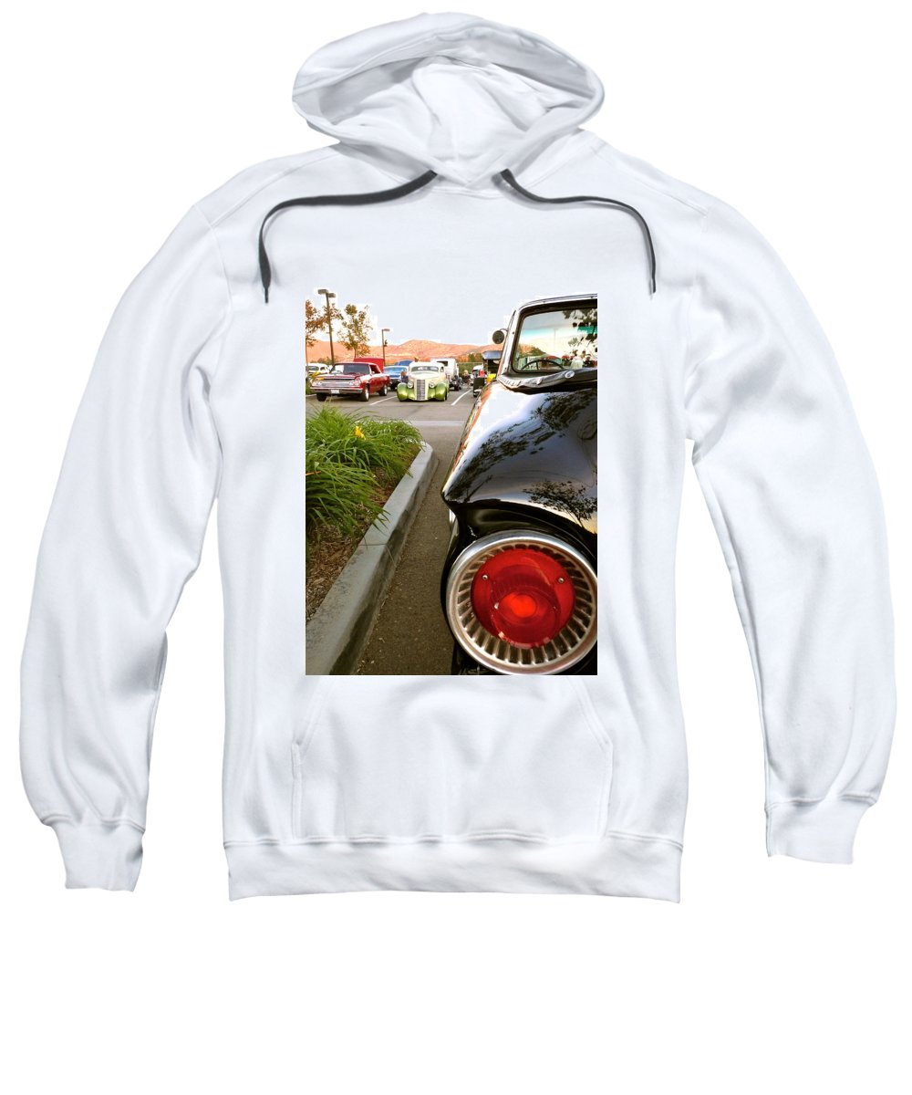Ford Sweatshirt featuring the photograph Ranchero Rocket by Customikes Fun Photography and Film Aka K Mikael Wallin