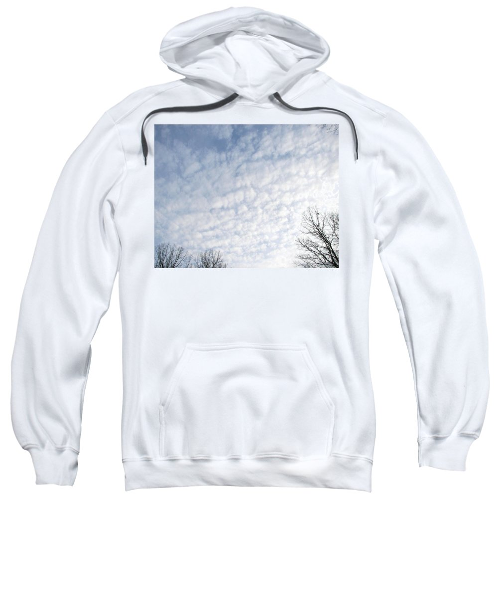 Clouds Sweatshirt featuring the photograph Reaching The Clouds by Pamela Hyde Wilson