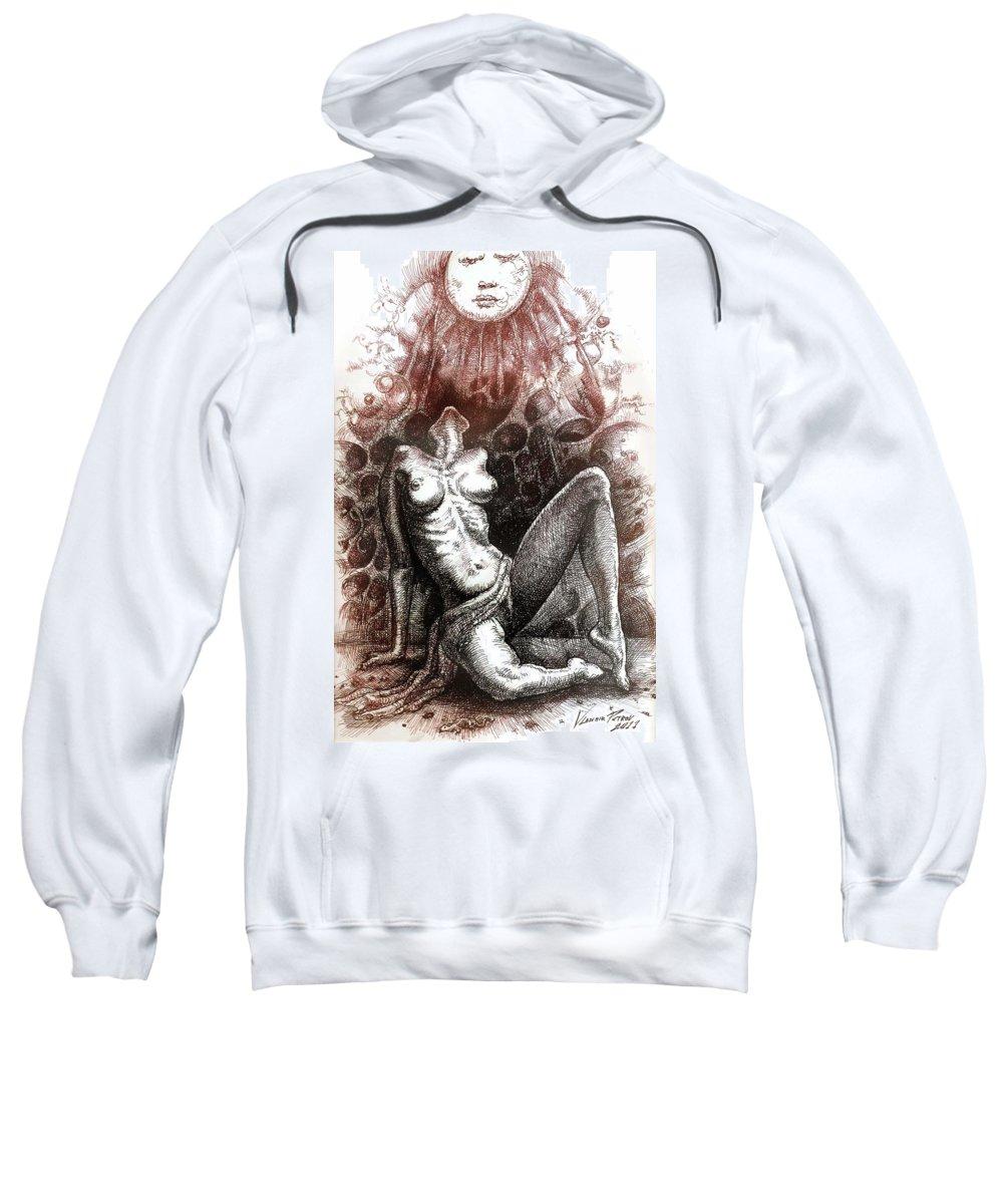 Love Sweatshirt featuring the drawing Regeneration-iii by Vladimir Petrov
