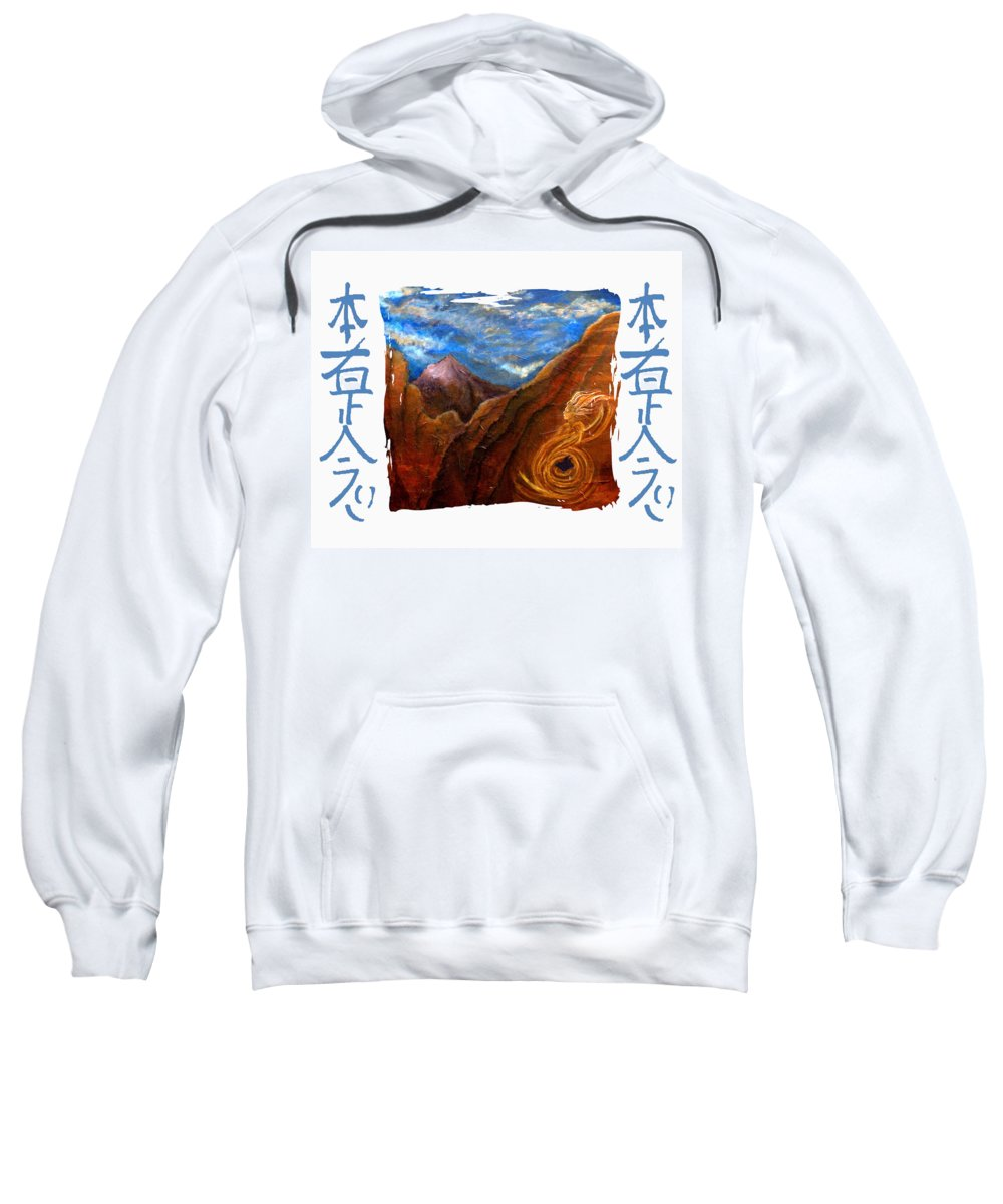 Reiki Sweatshirt featuring the mixed media Reiki Healing Art Of The Sedona Vortexes by The Art With A Heart By Charlotte Phillips