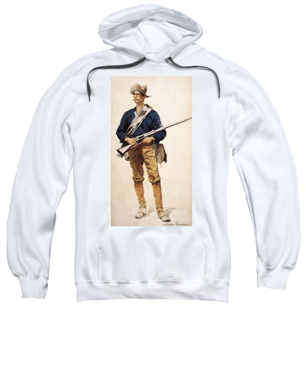1901 Sweatshirt featuring the photograph Remington: Soldier, 1901 by Granger