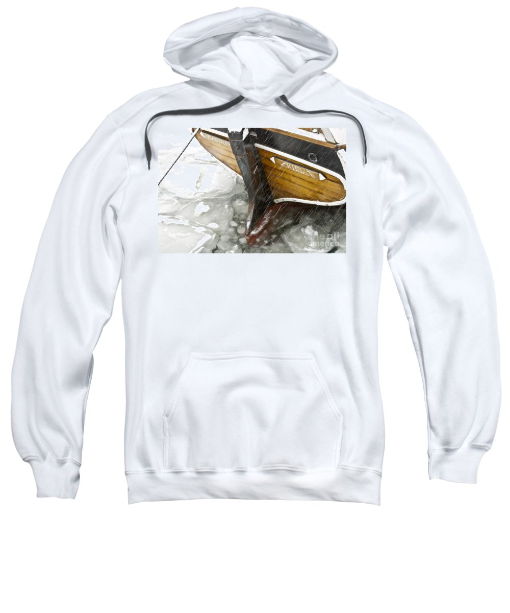 Europe Sweatshirt featuring the photograph Resting In Ice by Heiko Koehrer-Wagner