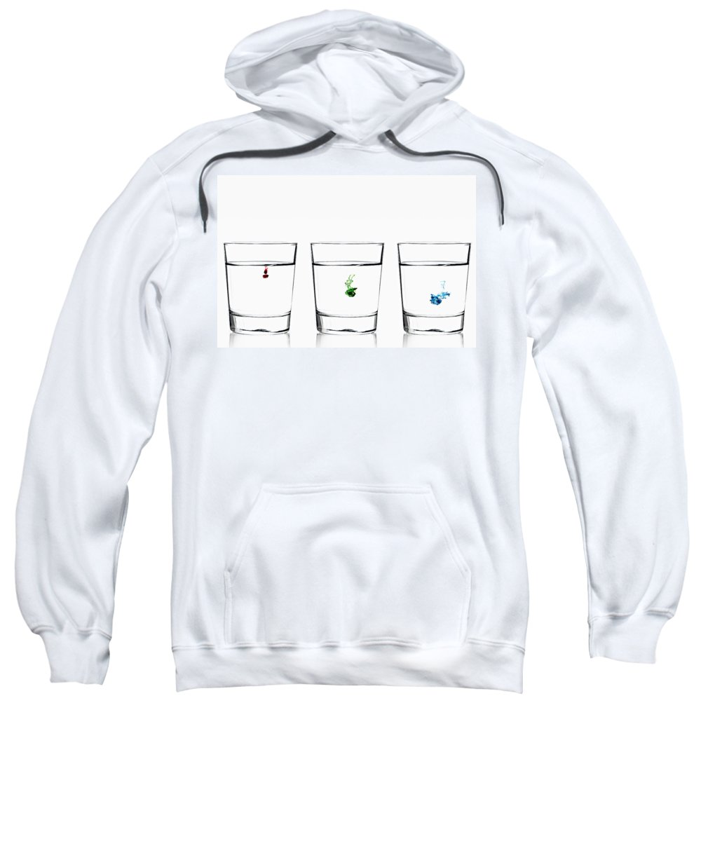 Alcohol Sweatshirt featuring the photograph Rgb - Diffusion by Gert Lavsen
