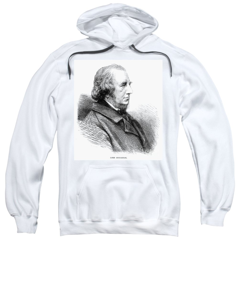 1865 Sweatshirt featuring the photograph Richard Monckton Milnes by Granger