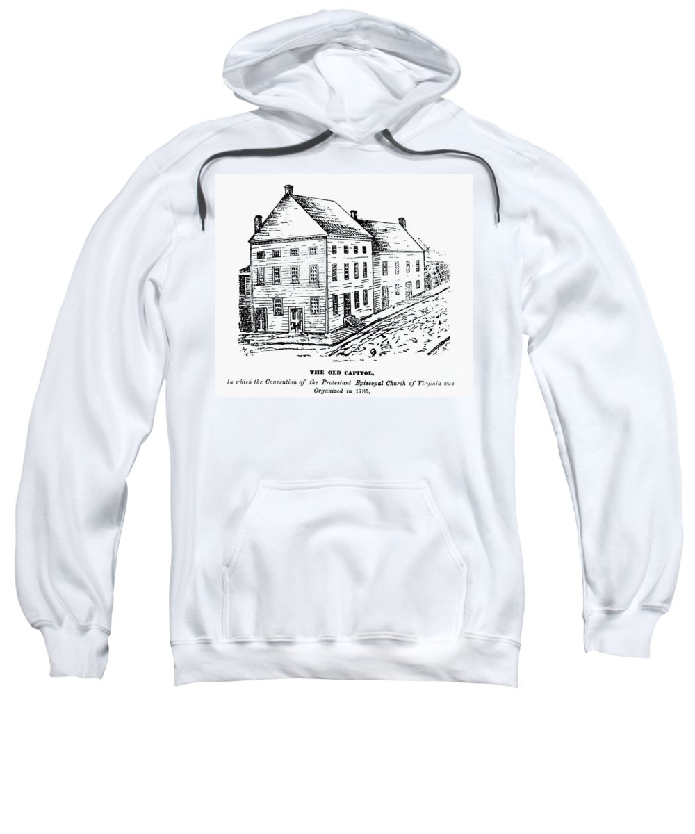 1780 Sweatshirt featuring the photograph Richmond: First Capitol by Granger