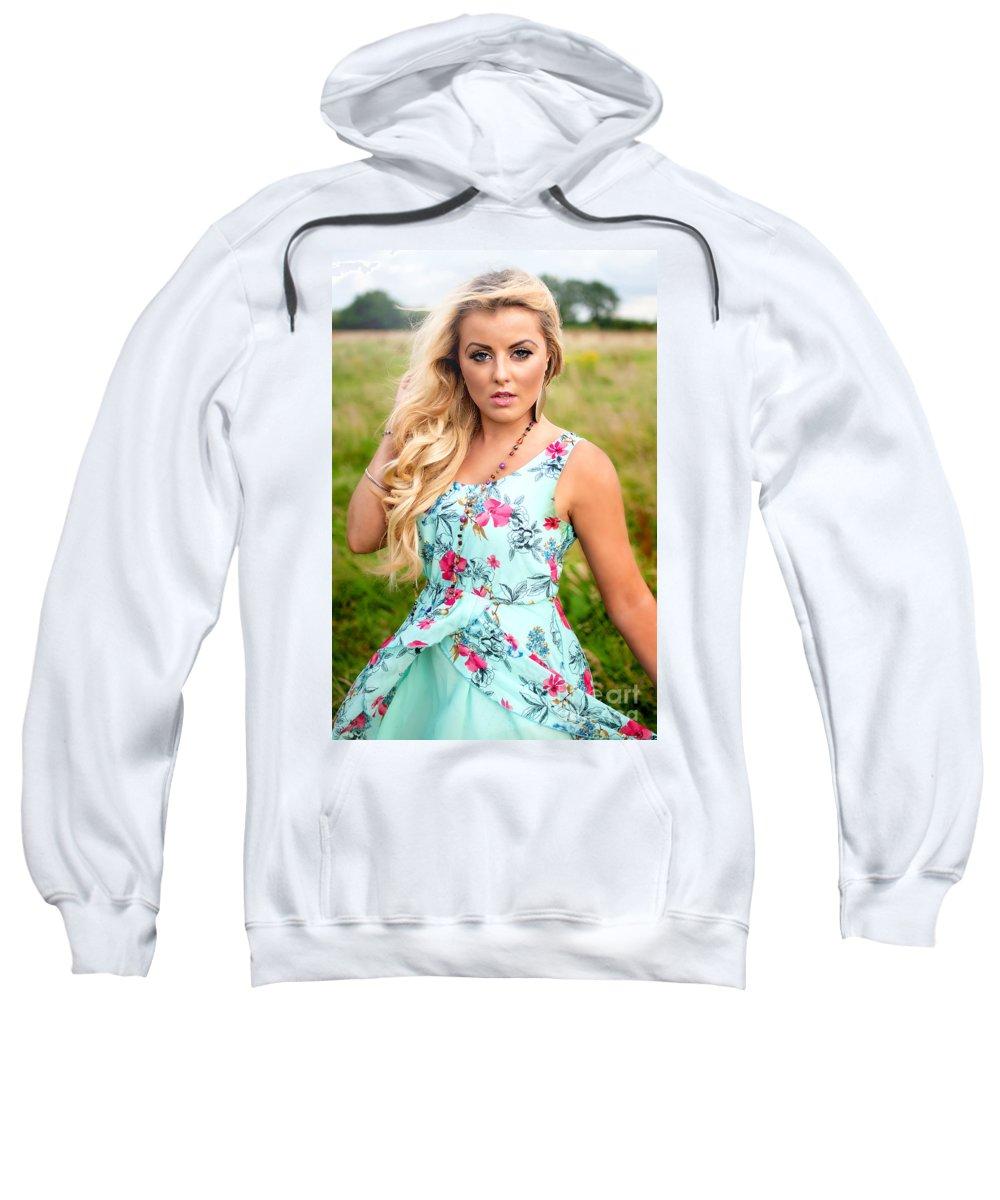 Yhun Suarez Sweatshirt featuring the photograph Rosey6 by Yhun Suarez
