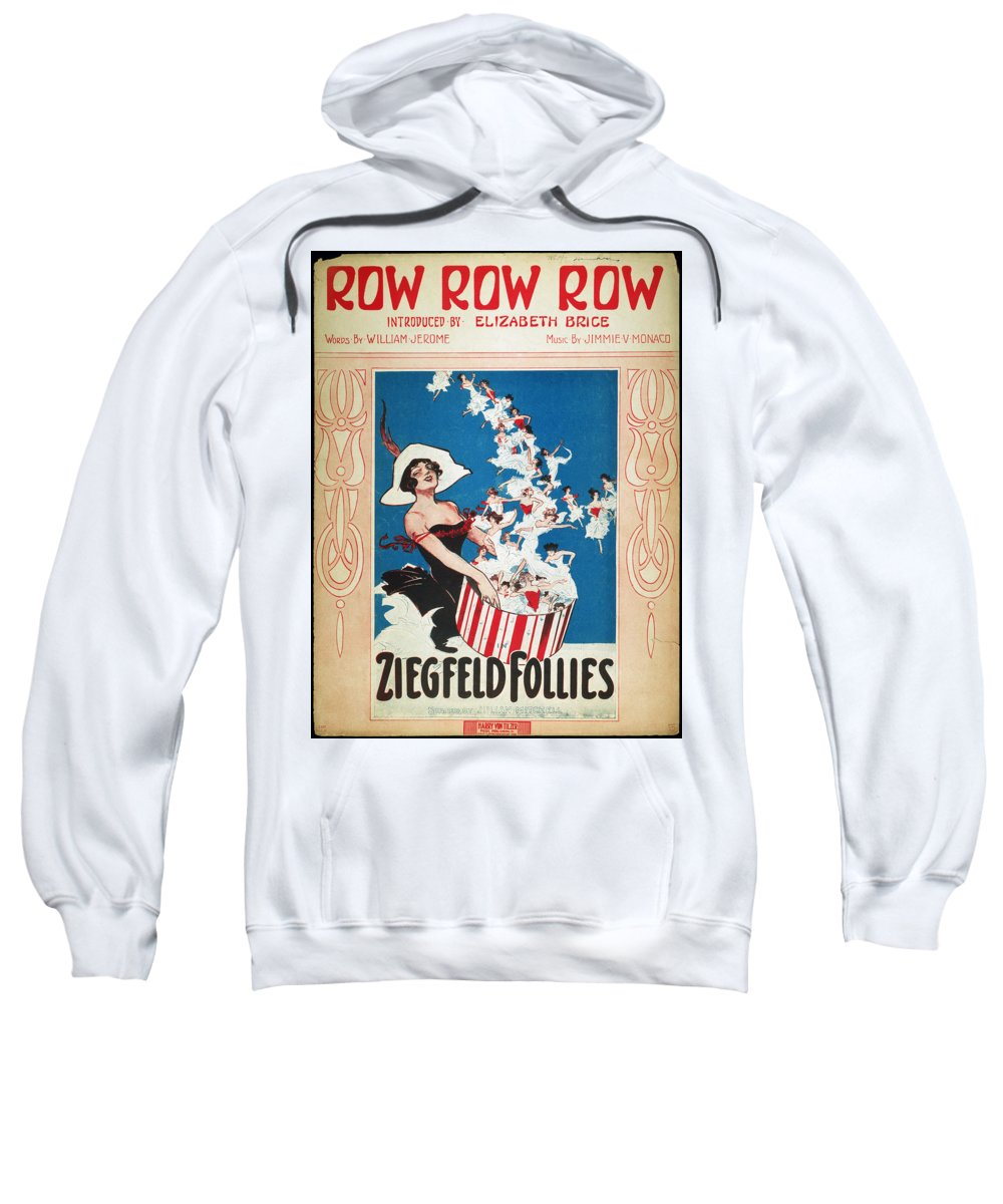 1912 Sweatshirt featuring the photograph Row Row Row: Song Sheet by Granger