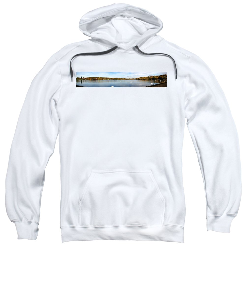 Grand Junction Sweatshirt featuring the photograph Ruislip Lido In Autumn by Chris Day