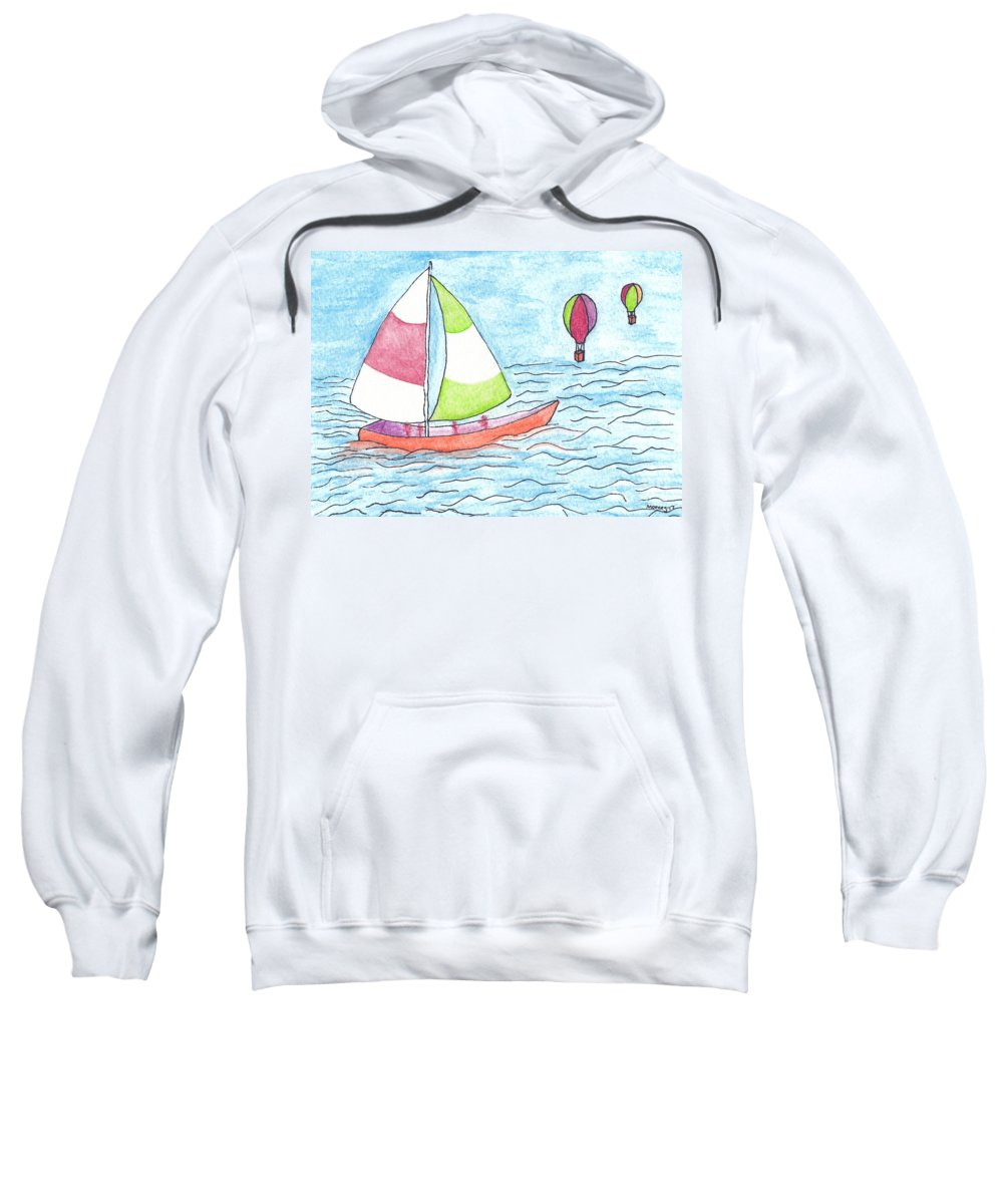 Sailor Sweatshirt featuring the drawing Sailor by Michael Mooney