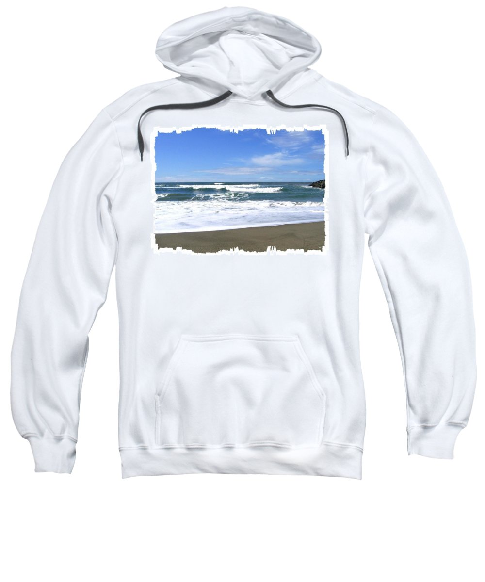 Seascape Sweatshirt featuring the photograph Sandy Shores Of Oregon by Will Borden
