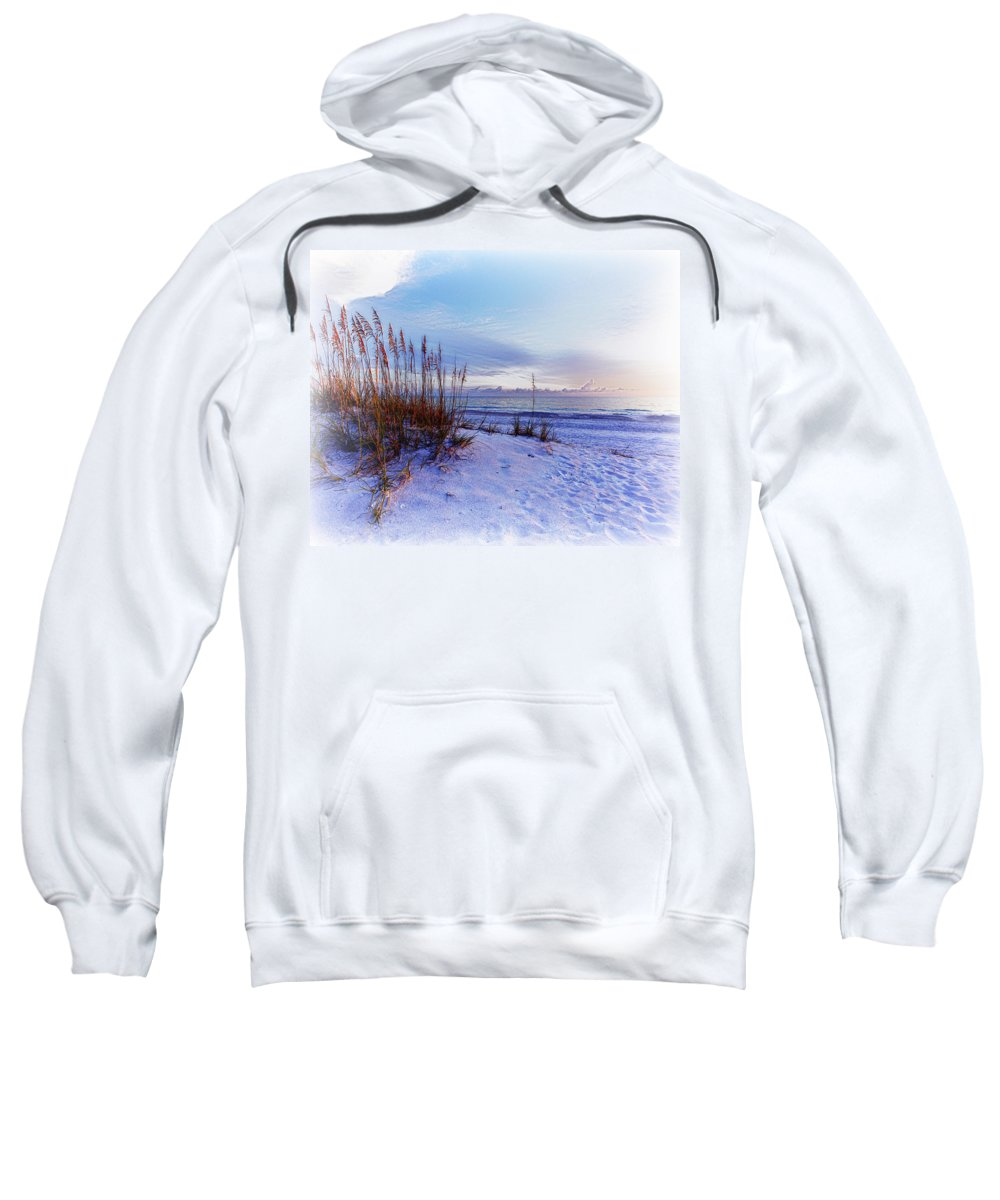 Absence Sweatshirt featuring the photograph Sea Oats 3 by Skip Nall
