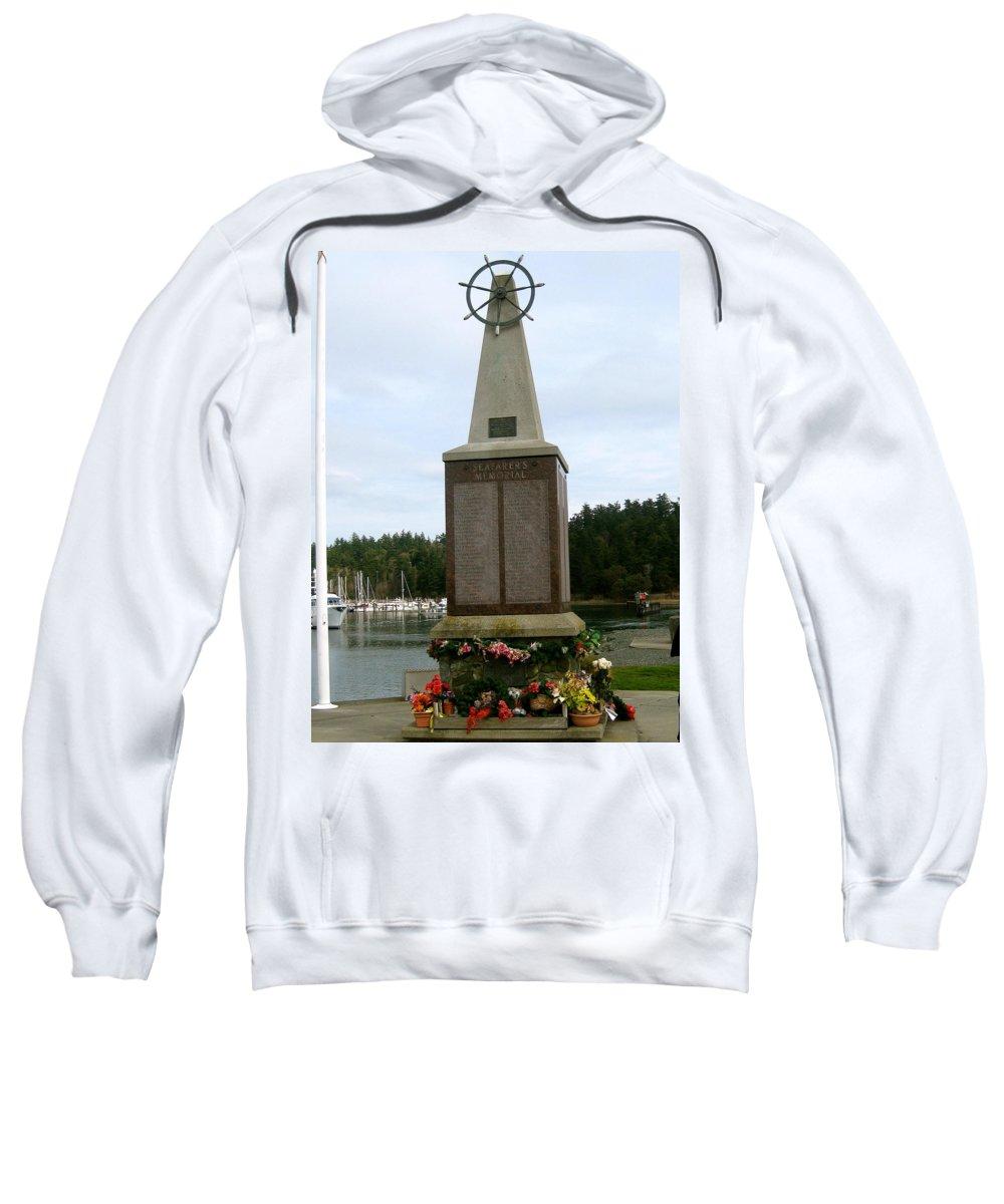 Sea Sweatshirt featuring the photograph Seafarer's Memorial by Linda Hutchins