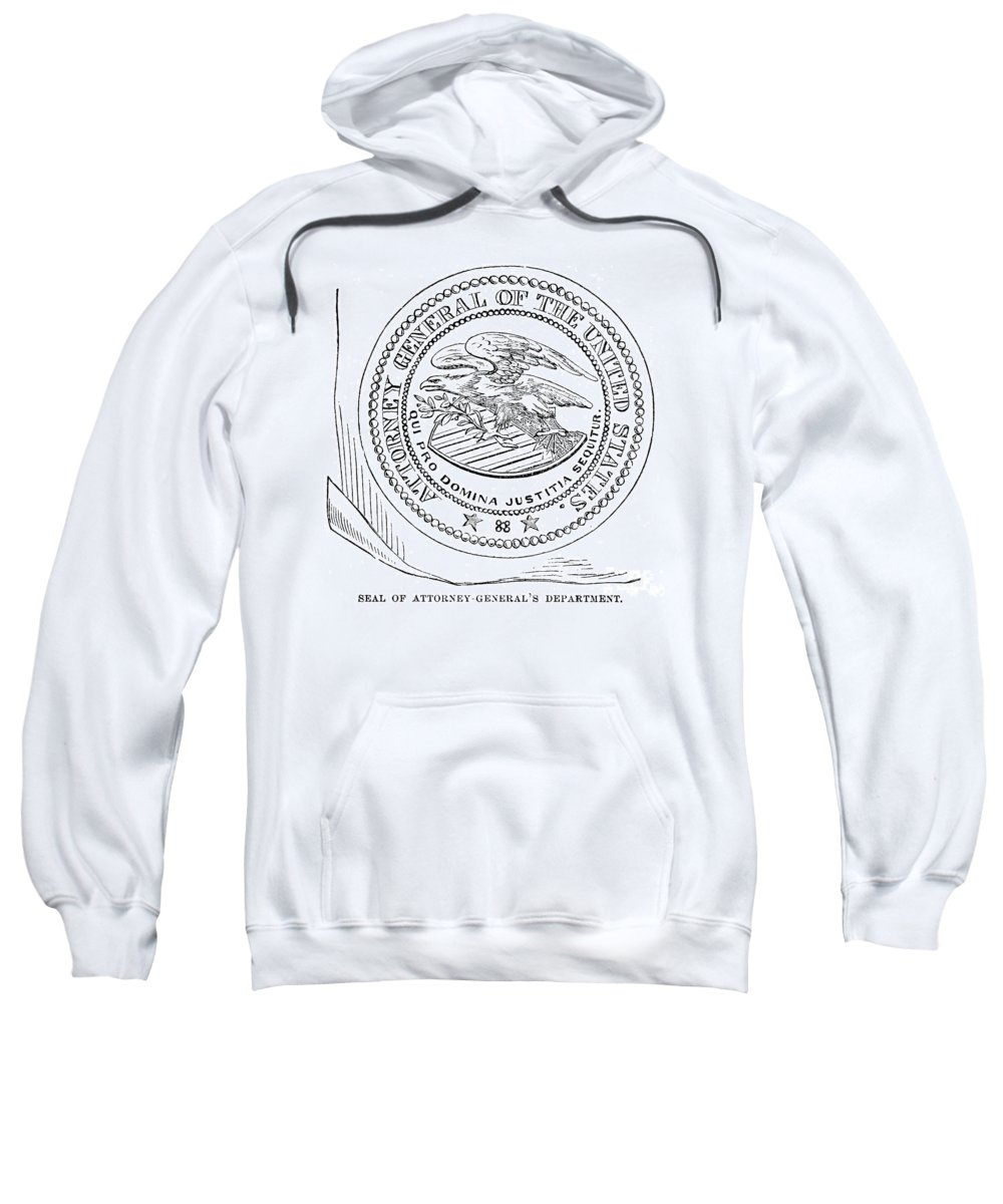 America Sweatshirt featuring the photograph Seal: Attorney General by Granger
