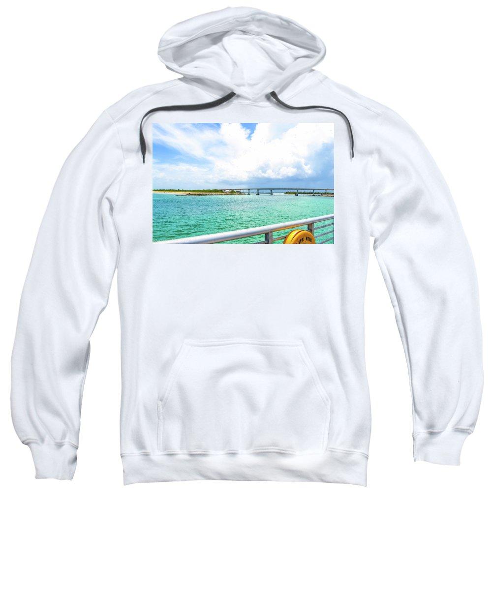 Breaches Sweatshirt featuring the photograph Sebastian Inlet by Shannon Harrington