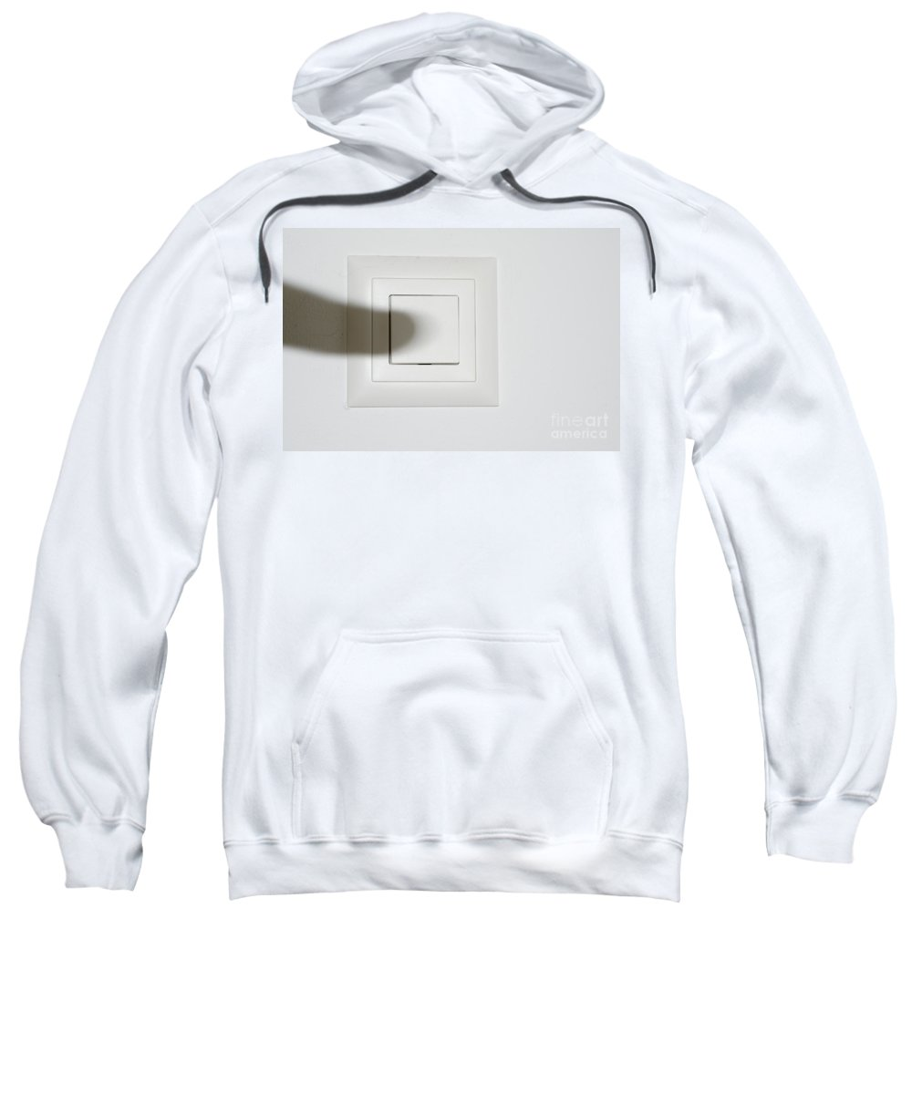 Shadow Sweatshirt featuring the photograph Shadow Switch On The Light by Mats Silvan