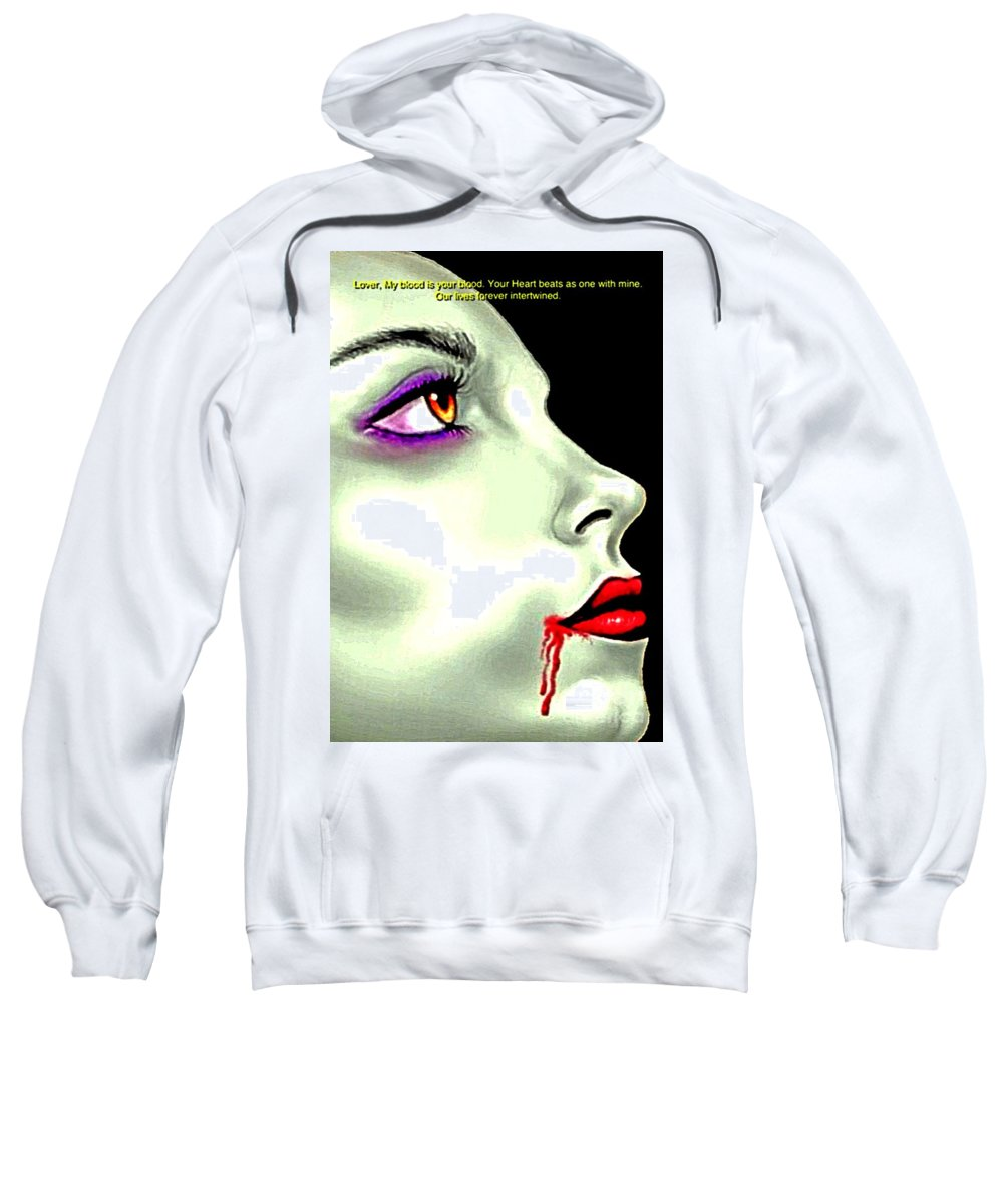 Blair Stuart Sweatshirt featuring the photograph She Gave Her Lover The Gift Of Eternal Life 2 by Blair Stuart