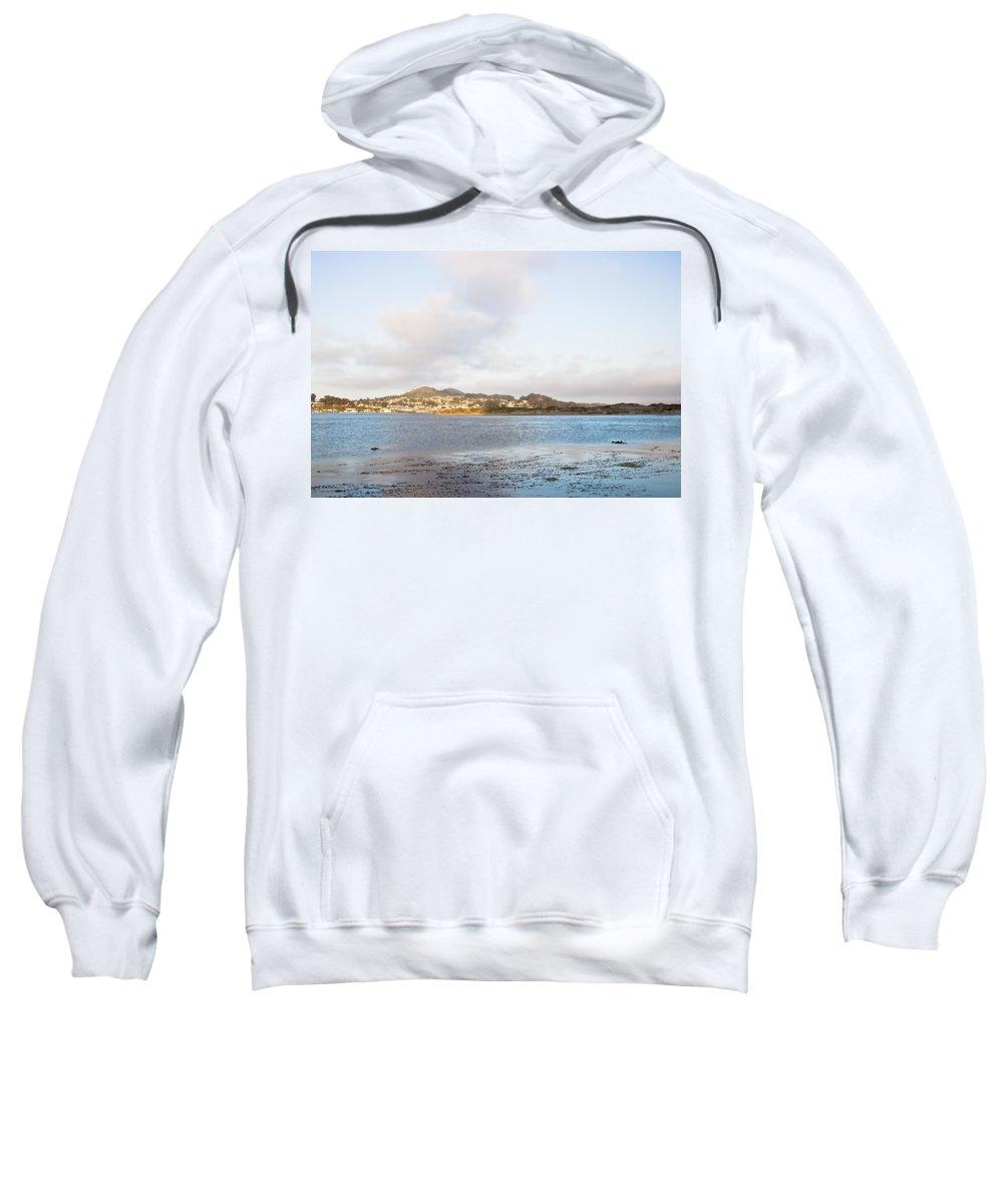 Morro Bay Sweatshirt featuring the photograph Shhhh - Sea Otters Sleeping by Heidi Smith