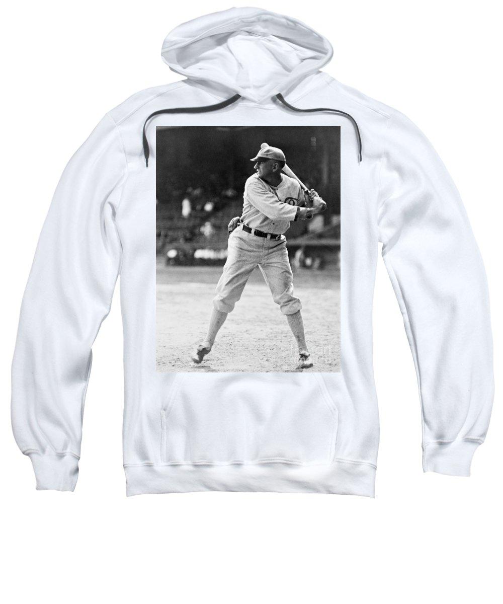 1920 Sweatshirt featuring the photograph Shoeless Joe Jackson (1889-1991) by Granger