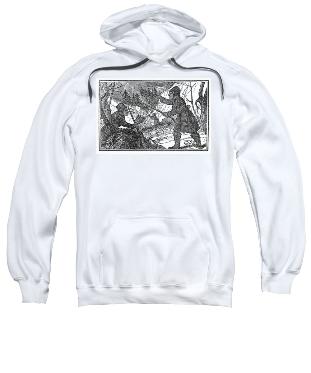 1841 Sweatshirt featuring the photograph Siberia: Weasel Hunting by Granger
