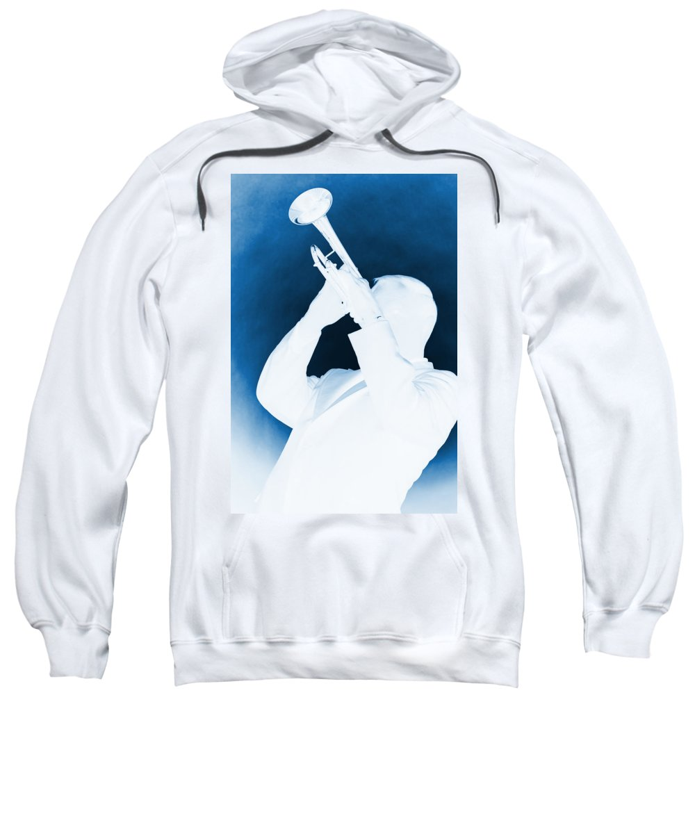 Fine Art Sweatshirt featuring the photograph Silhouette Trumpet by M K Miller