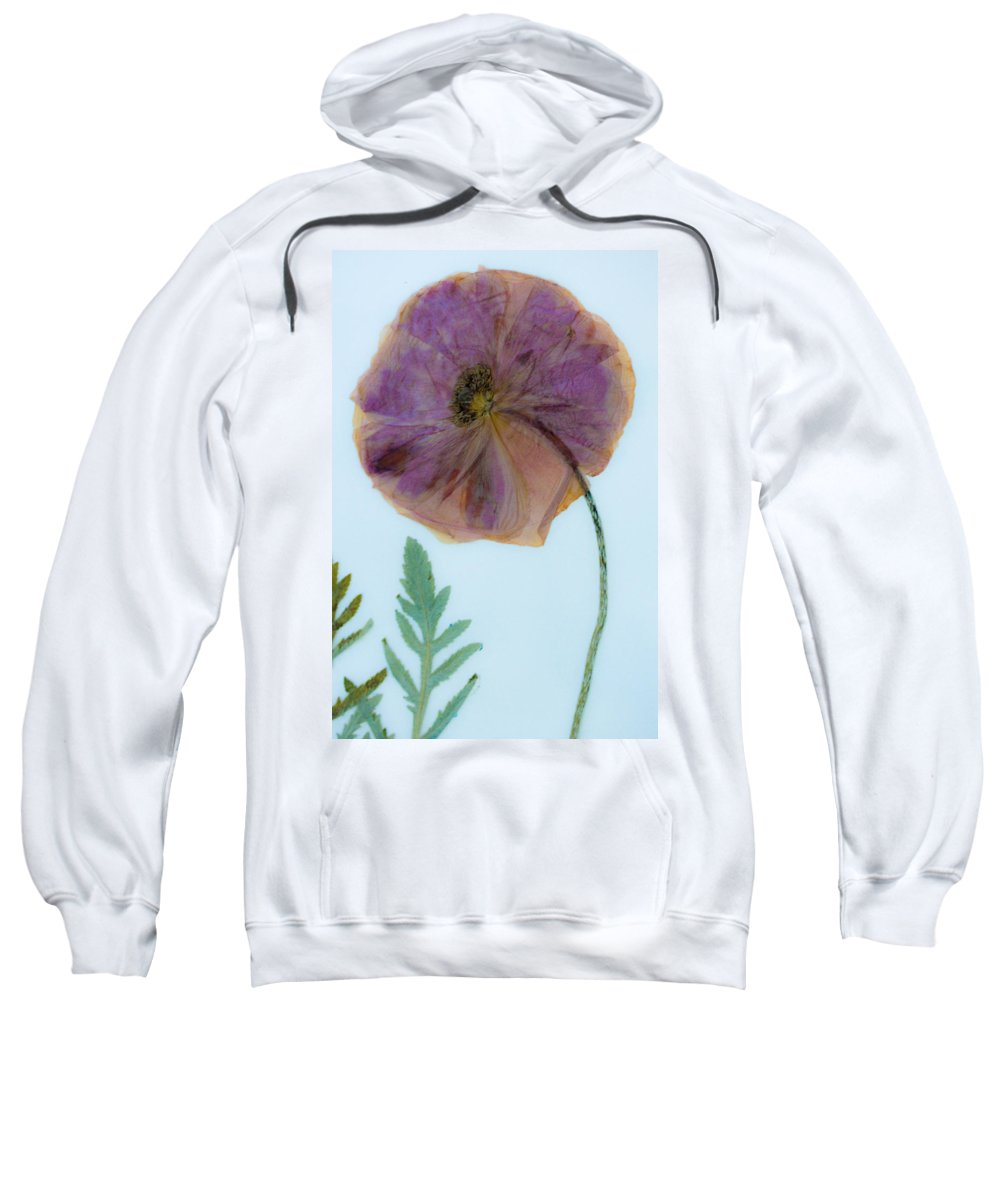 Dried Poppy Sweatshirt featuring the mixed media Simply Poppy by Marie Jamieson