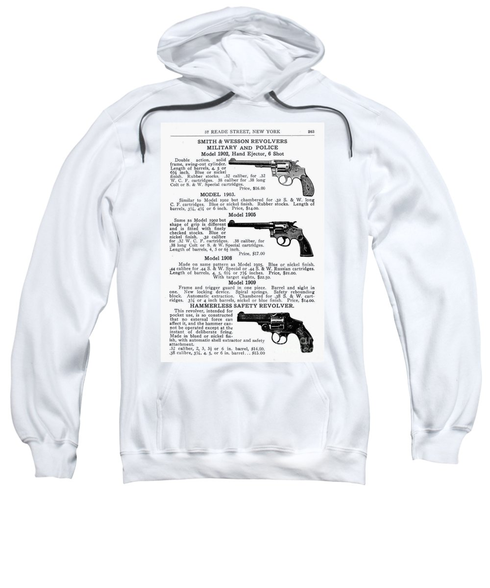 1910s Sweatshirt featuring the photograph Smith & Wesson Revolvers by Granger
