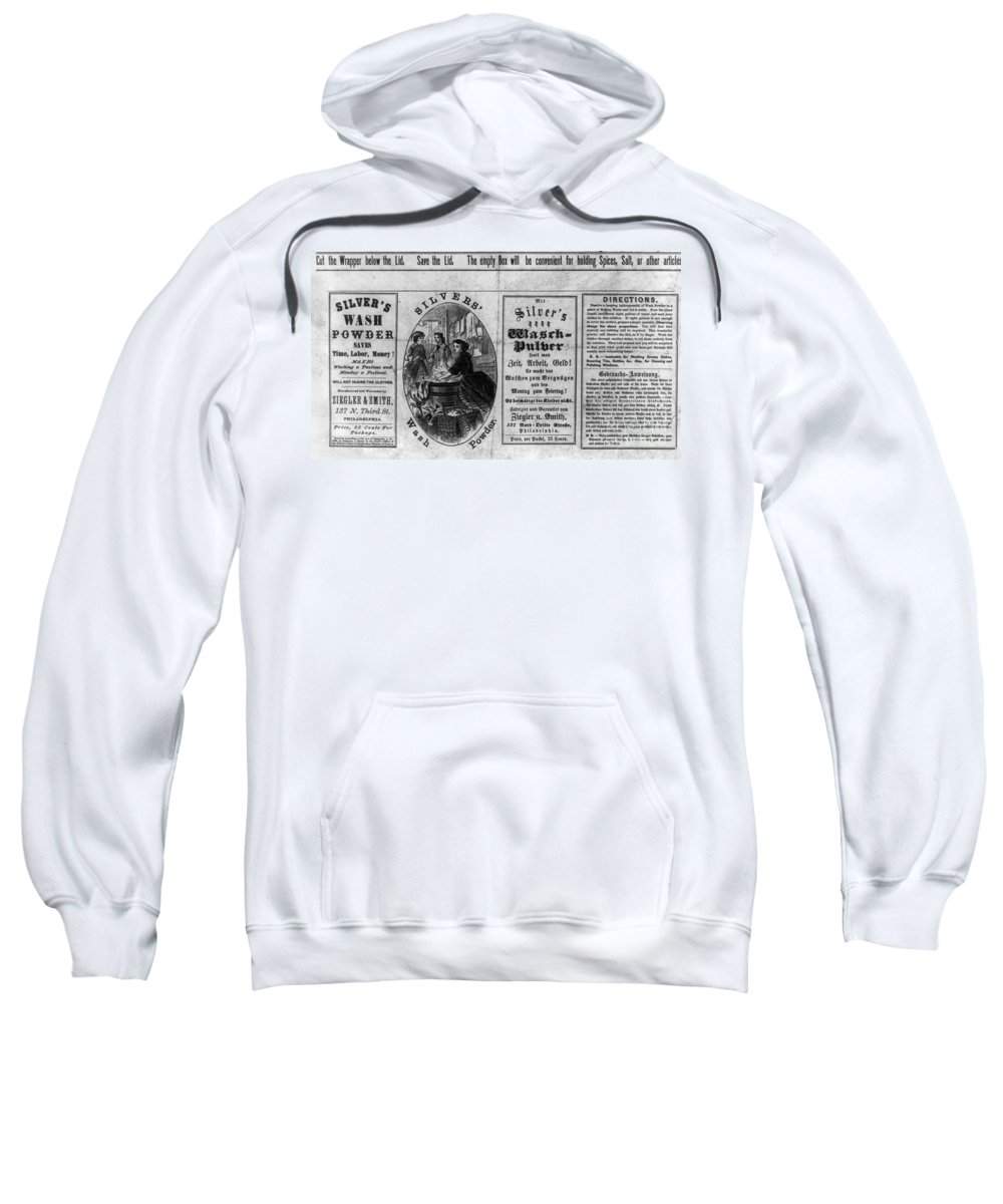 1866 Sweatshirt featuring the photograph Soap Advertisement, C1866 by Granger
