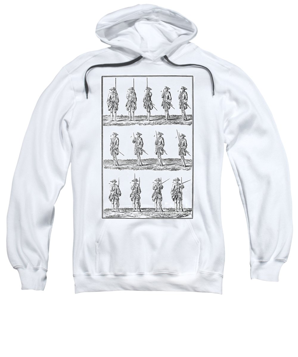 18th Century Sweatshirt featuring the photograph Soldiers: Infantry Drill by Granger