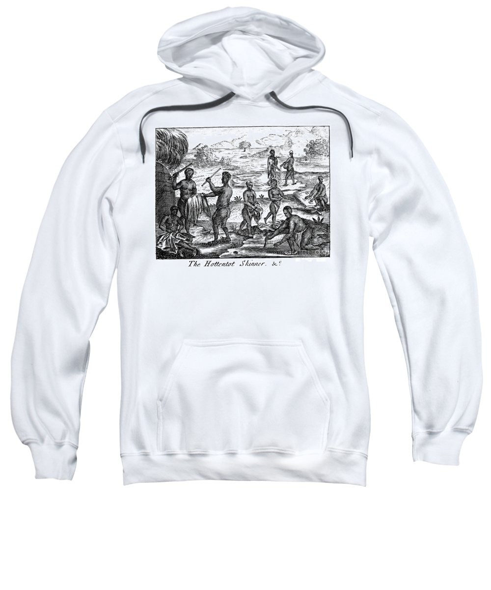 1731 Sweatshirt featuring the photograph South Africa: Hottentot by Granger